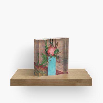 Australian Pomegranates Blue Vase