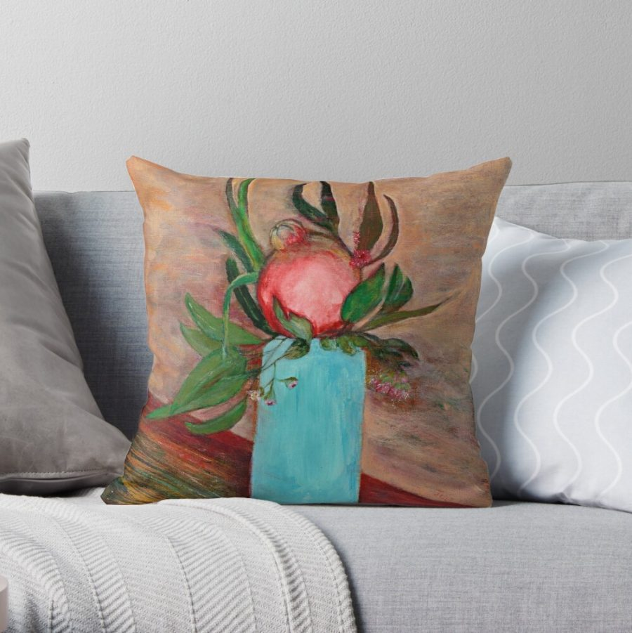 Julies Pomegranate & Blue Vase