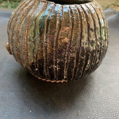 Australian handmade ceramic vase Flintstone designs